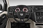 Car pictures of steering wheel view of a 2015 Ram base tradesman 5 Door Cargo Van