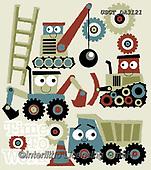 Lamont, GIFT WRAPS, GESCHENKPAPIER, PAPEL DE REGALO, paintings+++++,USGTDA3121,#gp#, EVERYDAY ,notebook,notebooks,building,caterpillars,trucks