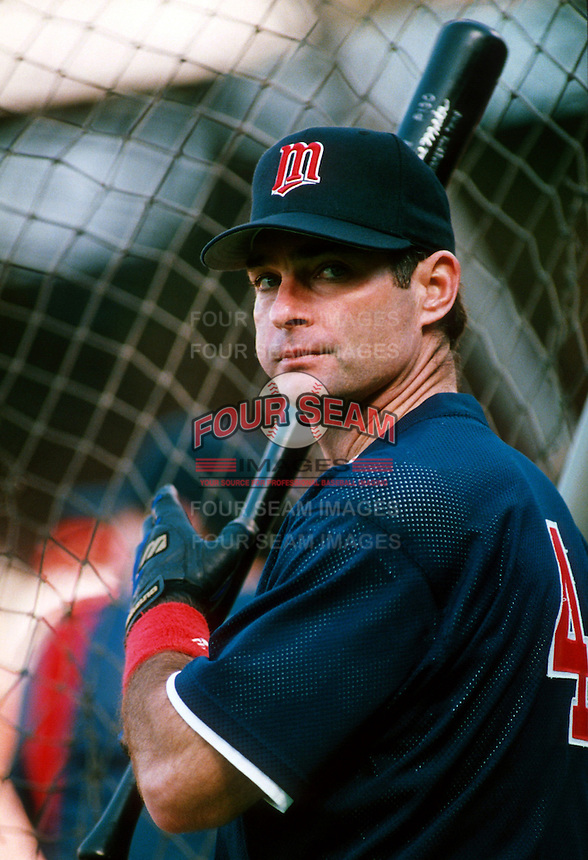 Paul Molitor of the Minnesota Twins during a game at Anaheim Stadium in Anaheim, California during the 1997 season.(Larry Goren/Four Seam Images)