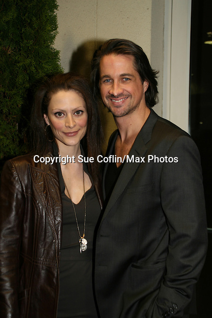 OLTL's Michael Easton and wife Ginevra at the 16th Annual Feast with Famous Faces to benefit the League for the Hard of Hearing on October 27, 2008 at Pier Sixty at Chelsea Piers, New York City, New York. (Photo by Sue Coflin/Max Photos)