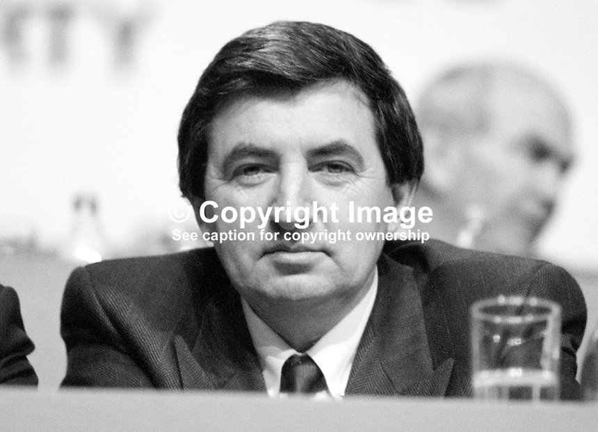 Brendan Daly, TD, Fianna Fail, Minister for the Marine, Rep of Ireland, 19880202BD.<br />