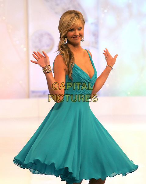 NANCY O'DELL.attends Runway for Life, Benefiting St. Jude Children's Research Hospital held at The Beverly Hilton Hotel in Beverly Hills, California, USA, September 15th 2006..half length green blue teal turquoise dress hands pose  catwalk show.Ref: DVS.www.capitalpictures.com.sales@capitalpictures.com.©Debbie VanStory/Capital Pictures