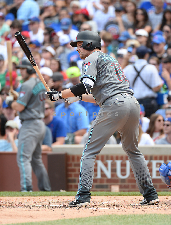 Arizona Diamondbacks Phil Gosselin (15) during a game against the Chicago Cubs on June 5, 2016 at Wrigley Field in Chicago, IL. The Diamondbacks beat the Cubs 3-2.