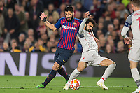 Barcelona, Spain, 01.05.2019, UEFA Champions League - 2018/19 Season, Halblfinale, 2. Runde, FC Barcelona Barca - FC Liverpool, Luis Suarez (Barcelona) and Mohamed Salah (Liverpool) battle for the ball ( DeFodi059 *** Barcelona Spain 01 05 2019 UEFA Champions League 2018 19 Season Half Final 2 Round FC Barcelona FC Liverpool Luis Suarez Barcelona and Mohamed Salah Liverpool battle for the ball DeFodi059  <br /> Barcellona 01-05-2019 Camp Nou <br /> Football 2018/2019 Uefa Champions League semi final <br /> Barcellona - Liverpool <br /> Foto Imago/Insidefoto <br /> Italy Only