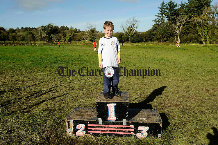 James Kelly at the Clare Athletics Association Cross Country Championships in Kilmaley. Photograph by John Kelly.