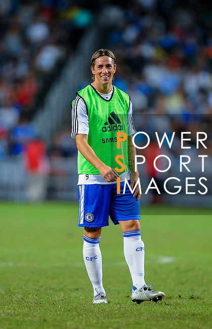 Fernanto Torres of Chelsea smiles before the Asia Trophy Final match against Aston Villa at the Hong Kong Stadium on July 30, 2011 in So Kon Po, Hong Kong. Photo by Victor Fraile / The Power of Sport Images