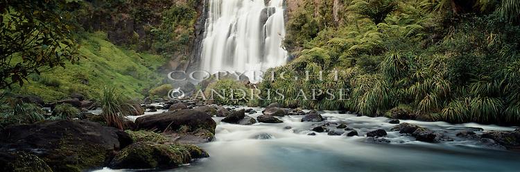 Waterfall on the Marakopa River. Waikato Region. New Zealand