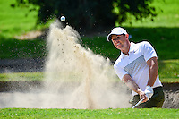 Rory McIlroy (NIR) hits from the trap on 1 during round 1 of the World Golf Championships, Mexico, Club De Golf Chapultepec, Mexico City, Mexico. 3/2/2017.<br /> Picture: Golffile | Ken Murray<br /> <br /> <br /> All photo usage must carry mandatory copyright credit (&copy; Golffile | Ken Murray)