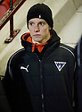 26/01/2010  Copyright  Pic : James Stewart.sct_jspa01_stenhousemuir_v_dunfermline  .:: CALUM WOODS LOOKS ON FROM THE SIDELINES :: .James Stewart Photography 19 Carronlea Drive, Falkirk. FK2 8DN      Vat Reg No. 607 6932 25.Telephone      : +44 (0)1324 570291 .Mobile              : +44 (0)7721 416997.E-mail  :  jim@jspa.co.uk.If you require further information then contact Jim Stewart on any of the numbers above.........