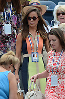 FLUSHING NY- SEPTEMBER 4: Pippa Middleton is sighted watching Azarenka Vs Stosur on Armstrong stadium at the USTA Billie Jean King National Tennis Center on September 4, 2012 in Flushing Queens.  Credit: mpi04/MediaPunch INc. ***NO NY NEWSPAPERS*** /NortePhoto.com<br />