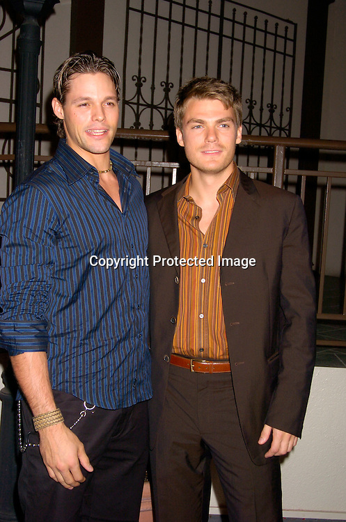Justin Bruening and Jeff Branson ..at ABC Casino Night on October 7, 2004 at The Lighthouse..at Chelsea Piers. ..Photo by Robin Platzer, Twin Images
