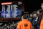 Stoke City 0 Valencia 1, 16/02/2012. Britannia Stadium, UEFA Europa League. Home supporters watching the last of the action at the Britannia Stadium, Stoke-on-Trent, during the UEFA Europa League last 32 first leg between Stoke City and visitors Valencia. The match ended in a 1-0 victory from the visitors from Spain. Mehmet Topal scored the only goal in the first half in a match watched by a crowd of 24,185. Photo by Colin McPherson.
