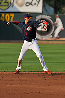 Cedar Rapids Kernels shortstop Royce Lewis (30) in action against the Peoria Chiefs at Veterans Memorial Stadium on June 16, 2018 in Cedar Rapids, Iowa. The Kernels won 12-4.  (Dennis Hubbard/Four Seam Images)