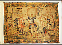 BNPS.co.uk (01202 558833)<br /> Pic: Sworders/BNPS<br /> <br /> One of the five Brussels tapestries depicting the Labours of Hercules, est &pound;20,000 each.<br /> <br /> The &pound;1million contents of a majestic 16th century English country house including its eye-catching tapestries, paintings and antique furniture have emerged for sale.<br /> <br /> The jewel in the crown in the everything must go sale at North Mymms Park is a collection of 19 large European tapestries which are each valued at &pound;20,000.<br /> <br /> The 12ft by 17ft tapestries were crafted in weaving workshops across northern Europe from the mid 16th to mid 18th century and have hung in the Grade I listed manor 'of exceptional interest' near Colney, Herts, for over 100 years. <br /> <br /> They were purchased by Anglo-American banker Walter Hayes Burns who acquired the estate in 1893 to accommodate his growing art collection and whose family owned it until 1979.