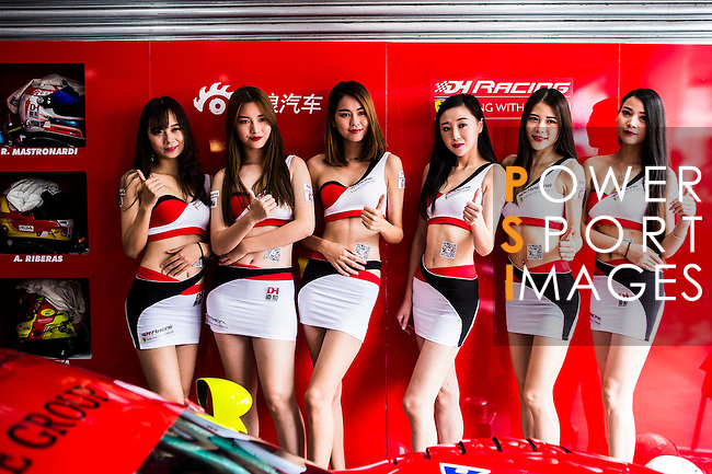 Pit girls at the 2016-2017 Asian Le Mans Series Round 1 at Zhuhai Circuit on 30 October 2016, Zhuhai, China.  Photo by Marcio Machado / Power Sport Images