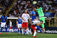 Kamil Grabara of Poland , Gianluca Mancini of Italy <br /> Bologna 19/06/2019 Stadio Renato Dall'Ara  <br /> Football UEFA Under 21 Championship Italy 2019<br /> Group Stage - Final Tournament Group A<br /> Italy - Poland <br /> Photo Cesare Purini / Insidefoto