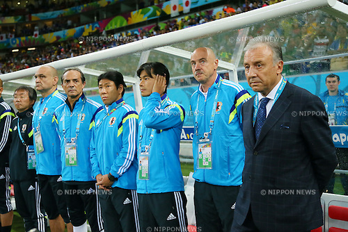 Alberto Zaccheroni (JPN), <br /> JUNE 14, 2014 - Football /Soccer : <br /> 2014 FIFA World Cup Brazil <br /> Group Match -Group C- <br /> between Cote d'Ivoire 2-1 Japan <br /> at Arena Pernambuco, Recife, Brazil. <br /> (Photo by YUTAKA/AFLO SPORT) [1040]