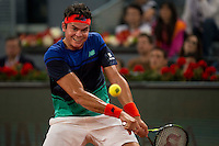 Canadian Milos Raonic during Mutua Madrid Open Tennis 2016 in Madrid,  May 06, 2016. (ALTERPHOTOS/BorjaB.Hojas) /NortePhoto.com