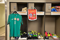 Santa Clara, CA - Monday June 06, 2016: Chile locker room prior to a Copa America Centenario Group D match between Argentina (ARG) and Chile (CHI) at Levi's Stadium.