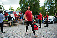 Henry Purdy and the rest of the Gloucester Rugby team arrive at Allianz Park. Gallagher Premiership Semi Final, between Saracens and Gloucester Rugby on May 25, 2019 at Allianz Park in London, England. Photo by: Patrick Khachfe / JMP