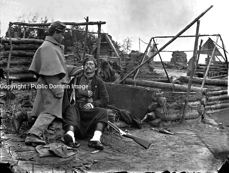 Wounded Zouave.  Mathew Brady Collection. (Army)<br /> Exact Date Shot Unknown<br /> NARA FILE #:  111-BB-250<br /> WAR & CONFLICT BOOK #:  141