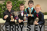 CHAMPIONS: Champion dancers at the Feile Cheoil in Lixnaw on Saturday l-r: Tom Crowley (Tralee), Sean Slemon(Listowel), Stephen O'Connor (Ventry) and Aaron Selmon(Listowel)........