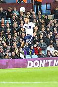 12th September 2017, Villa Park, Birmingham, England; EFL Championship football, Aston Villa versus Middlesbrough; Lewis Baker of Middlesbrough heads the ball back up field