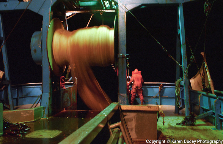 Progress, F/V, Seattle, Karen Ducey, Bering Sea, trawl, dragger, pollock, net, fishermen, crew, deckhand