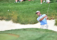 Bethesda, MD - July 2, 2017: Shawn Stefani hits his ball out of a bunker on hole seventeen during final round of professional play at the Quicken Loans National Tournament at TPC Potomac at Avenel Farm in Bethesda, MD.  (Photo by Phillip Peters/Media Images International)