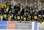 28 November 2008:  The Colorado College bench can only watch as the #3 Colorado College Tigers lose to #11 Air Force 4-1at Cadet Ice Arena, United States Air Force Academy, Colorado Springs, CO.