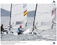 Hyeres, France, 20130425: ISAF SAILING WORLD CUP - approx 900 sailors compete in all the Olympic boat classes at the last event on the 2012/2013 World Cup. Finn - USA - Caleb Paine. Photo: Mick Anderson/SAILINGPIX..Note: High-res TIFFs availble upon request.