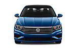 Car photography straight front view of a 2019 Volkswagen Jetta SEL 4 Door Sedan