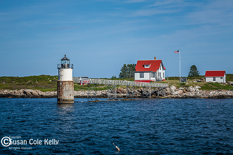 Ram Island Light in Boothbay, ME, USA