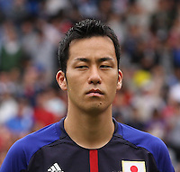 Men's Olympic Football match Spain v Japan on 26.7.12...Maya Yoshida, Captain of Japan, during the Spain v Japan Men's Olympic Football match at Hampden Park, Glasgow......