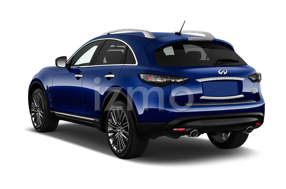 Car pictures of rear three quarter view of 2017 Infiniti QX70 3.7 5 Door SUV Angular Rear