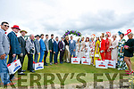 Judges Thalia Heffernan and Aidan O'Mahony with the 20 finalists in the Best dressed Lady and Man at the Killarney Races on Thursday