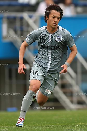 Masaya Yuma (Blaublitz),<br /> APRIL 10, 2016 - Football / Soccer : <br /> 2016 J3 League match between  <br /> Y.S.C.C. Yokohama 1-2 Blaublitz Akita<br /> at NHK SPRING Mitsuzawa Football Stadium, Kanagawa, Japan.<br /> (Photo by Shingo Ito/AFLO SPORT)