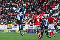 Dominic Iorfa of Sheffield Wednesday heads the ball during Charlton Athletic vs Sheffield Wednesday, Sky Bet EFL Championship Football at The Valley on 30th November 2019