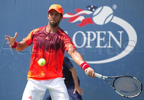 31.08.2015. New York, NY, USA.  Fernando Verdasco (ESP) US Open 2015 Grand Slam ITF ATP Tennis Mens 1st round Flushing Meadows 31st August 2015.
