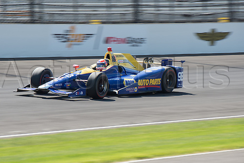 27.05.2016. Indianapolis, IN, USA. IndyCar driver Alexander Rossi (98) on Carb Day of the 100th running of the Indianapolis 500 at the Indianapolis Motor Speedway in Speedway, IN.