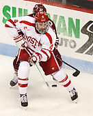 Brandon Hickey (BU - 4) - The Boston University Terriers defeated the University of Massachusetts Minutemen 3-1 on Friday, February 3, 2017, at Agganis Arena in Boston, Massachusetts.The Boston University Terriers defeated the visiting University of Massachusetts Amherst Minutemen 3-1 on Friday, February 3, 2017, at Agganis Arena in Boston, MA.