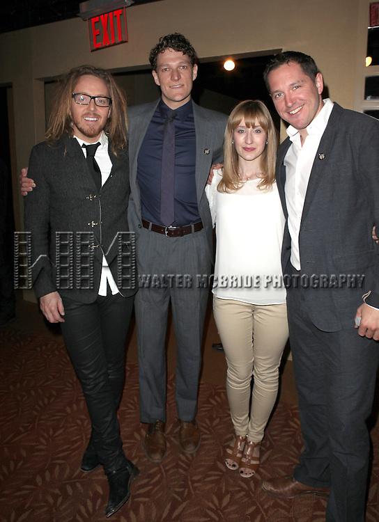 MATILDA: Tim Minchin, Gabriel Ebert, Lauren Ward, Bertie Carvel attending the 2013 Tony Awards Meet The Nominees Junket  at the Millennium Broadway Hotel in New York on 5/1/2013...