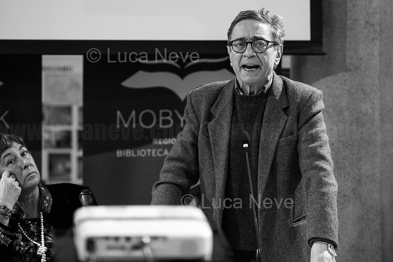 """(From L to R) Resta, Lodato.<br /> <br /> Rome, 08/02/19. Moby Dick Library in Garbatella & Antimafia Duemila(2.) held the presentation of the book """"Il Patto Sporco"""" (The Dirty Pact. The Trial State-mafia in the Story [narrated] by his Protagonist, Chiarelettere,1.) hosted by the author of the book Saverio Lodato (Journalist & Author), Antonino 'Nino' Di Matteo (Protagonist of the book, Antimafia Magistrate of Palermo, member of the DNA - Antimafia & Antiterrorism National Directorate - who """"prosecuted the Italian State for conspiring with the Mafia in acts of murder & terror"""",3.4.5.6.) & Giorgio Bongiovanni (Editor of Antimafia Duemila). Chair of the event was Silvia Resta (Journalist & Author). Readers were: Bianca Nappi & Carlotta Natoli (both Actresses). From the back cover of the book: """"Let us ask ourselves why politics, institutions, culture, have needed the words of judges to finally begin to understand…A handful of magistrates and investigators have shown not to be afraid to prosecute the [Italian] State. Now others must do their part too"""" (Nino Di Matteo). """"In the pages of this book I wanted the magistrate, the man, the protagonist and the witness to speak about a trial destined to leave its mark"""" (Saverio Lodato). From the book online page: """"The attacks to Lima [politician], Falcone & Borsellino [Judges], the bombs in Milan, Florence, Rome, the murders of valiant police commissioners & officers of the carabinieri. The [Ita] State on its knees, its best men sacrificed. However, while the blood of the massacres was still running there were those who, precisely in the name of the State, dialogued and interacted with the enemy. The sentence of condemnation of Palermo [""""mafia-State negotiation"""" trial which is told in the book], against the opinion of many 'deniers', proved that the negotiation not only was there but did not avoid more blood. On the contrary, it provoked it""""(1.).<br /> Footnotes & links provided at 2nd & last page."""