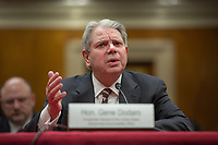 Comptroller General of the United States Government Accountability Office Gene Dodaro testifies before the US Senate Subcommittee on Legislative Branch on Capitol Hill in Washington DC on April 10, 2019.<br /> Credit: Stefani Reynolds / CNP/AdMedia