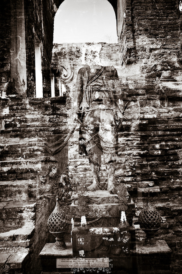 artistic, multiple exposure, thailand, historical, landmarks, emotive, creative, religious, spiritual, worship, travel, tourism, buddhism