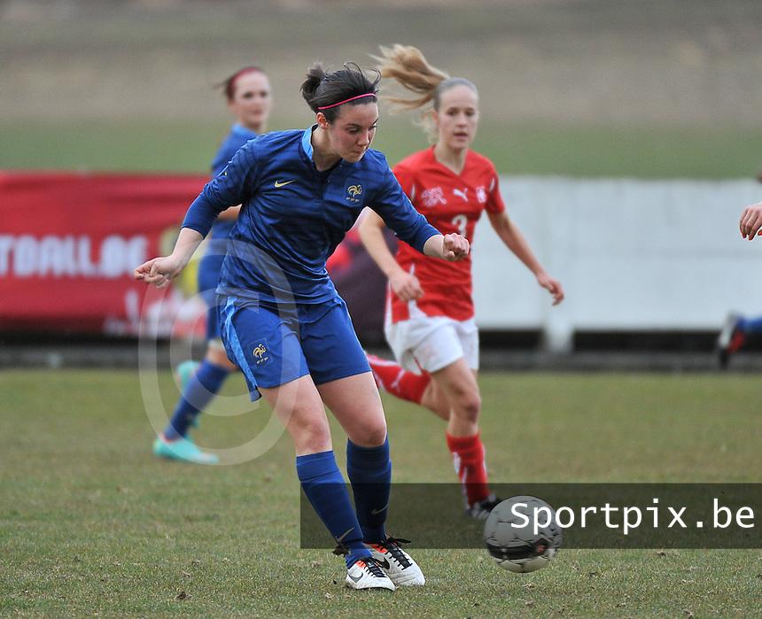 Switzerland U19 - France U19 : Clarisse Le Bihan.foto DAVID CATRY / Nikonpro.be