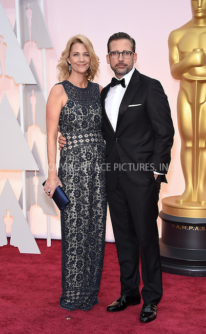 WWW.ACEPIXS.COM<br /> <br /> February 22 2015, LA<br /> <br /> Steve Carell and Nancy Carell arriving at the 87th Annual Academy Awards at the Hollywood &amp; Highland Center on February 22, 2015 in Hollywood, California<br /> <br /> <br /> By Line: Z15/ACE Pictures<br /> <br /> <br /> ACE Pictures, Inc.<br /> tel: 646 769 0430<br /> Email: info@acepixs.com<br /> www.acepixs.com