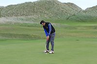 Jamie Sutherland (Galgorm Castle) on the 15th green during Round 2 of The East of Ireland Amateur Open Championship in Co. Louth Golf Club, Baltray on Sunday 2nd June 2019.<br /> <br /> Picture:  Thos Caffrey / www.golffile.ie<br /> <br /> All photos usage must carry mandatory copyright credit (© Golffile   Thos Caffrey)