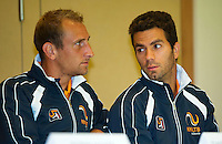 Austria, Kitzbuhel, Juli 16, 2015, Tennis, Davis Cup, Draw,  Thiemo de Bakker with Jean-Julien Rojer (R)<br /> Photo: Tennisimages/Henk Koster