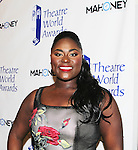 award to Danielle Brooks - 72nd Annual Theatre World Awards hosted by Peter Filichia at Circle in the Square Theatre on May 23, 1916 in New York City, New York. (Photo by Sue Coflin/Max Photos)
